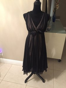 Milly Of New York Black Silk And Cream Linning Unknown Dress