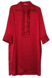 Badgley Mischka short dress Red on Tradesy