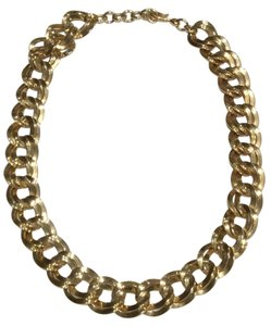 MONET 1960's RUNWAY MONET LARGE HEAVY GOLD DOUBLE LINK CHAIN NECKLACE