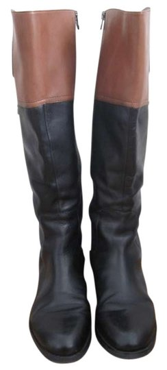 Etienne Aigner Wide Calf Brown Riding Riding Black/Camel Boots
