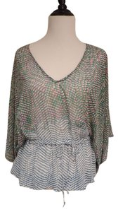 CAbi Top Blue and Green print