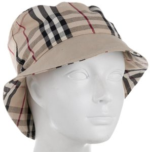 Burberry Tan, black, brown Burberry House Check cotton bucket hat