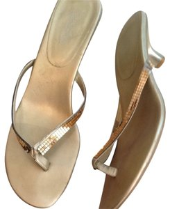 Kenneth Cole Gold Metallic Sandals