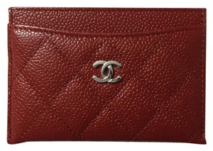 Chanel Chanel Caviar Red Card Holder