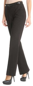 Tahari Office Work Satin Preppy Flare Pants Black