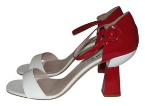 Miu Miu Sandals Mary Jane Valentines Day red white Pumps