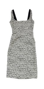 Diane von Furstenberg short dress Black & White Sleeveless on Tradesy