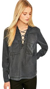 Free People Button Down Shirt black