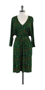 ISSA London short dress Green Navy Red Paisley Print on Tradesy