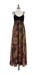 Maxi Dress by Missoni Multi Color Silk Spaghetti