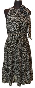 Michael Kors Leopard Print Halter Dress