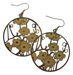 Forever 21 Little Yellow Cherry Blossom Earrings