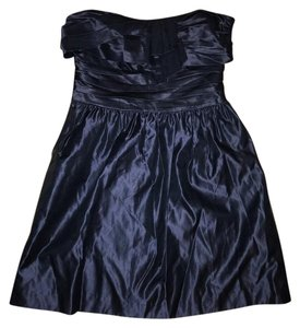 Juicy Couture Strapless Pleated Silk Mini Dress