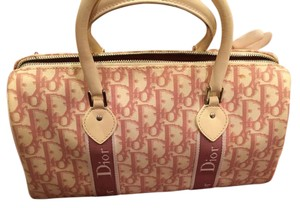 Dior Christian Christian Christian Tote in white and pink