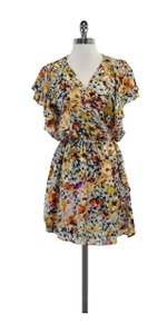Parker short dress Multi Color Floral Print Silk Wrap on Tradesy