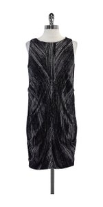 Vivienne Tam short dress Black & White Print Sleeveless on Tradesy