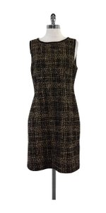 Trina Turk short dress Brown & Black Tweed Sleeveless on Tradesy