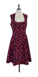Kate Spade short dress Fuchsia & Black Cheetah Print Sleeveless on Tradesy