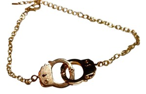 Other New Gold Tone Handcuffs Bracelet 8-10 in. J3094