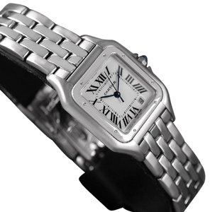 Cartier Cartier Panthere Mens Midsize / Unisex Watch, Date, Stainless Steel -