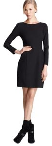 Theory Black Longsleeve Sheath Mini Dress