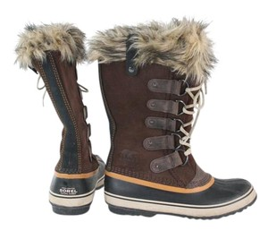 Sorel Winter Snow Lace Up Brown Boots