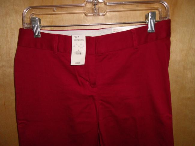 Express Flare Pants Red