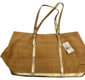 Michael Kors Tote in Tan And Gold