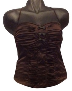 bebe Brown Halter Top