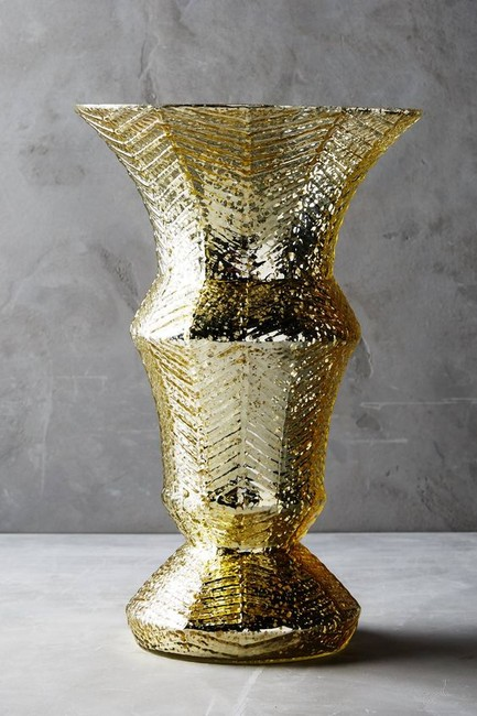 Item - Gold Mercury Glass Chalice Vases - Shipping Centerpiece