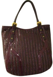 Maxximum Leather Large Tote Satchel in Brown
