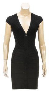 Hervé Leger short dress Black on Tradesy