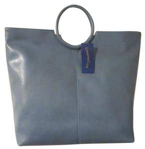 Charter Club Leather Tote in French Blue