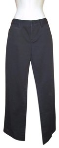 Ralph Lauren Blue Label Stretch Chinos Boot Cut Pants Black