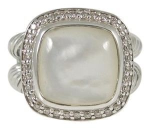 David Yurman David Yurman Sterling Silver .24tcw 11mm Mother of Pearl Albion Ring