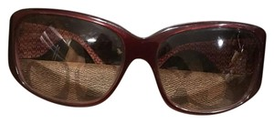 Coach burgundy coach sunglasses with case