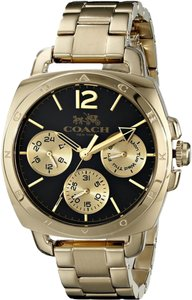 Coach Coach Boyfriend 14502173 Gold Stainless Black Dial Womens Watch