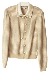 St. John Knit Sweater Beige Jacket