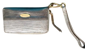 Tahari Wristlet in beige and gold