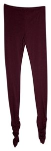 Free People Maroon Leggings