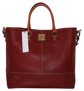 Dooney & Bourke Chelsea Leather R236cb Red Tote in Cranberry