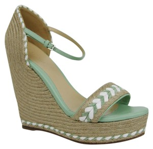 Gucci Tiffany Espadrille Platform Wedge Multi-Color Sandals