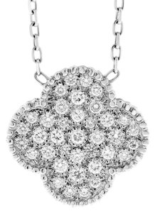 Other 1.01 Ct. Natural Fine Diamond Medium Clover Pendant In Solid 14k White