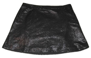 Decree Sequin A Line Mini Mini Skirt Black