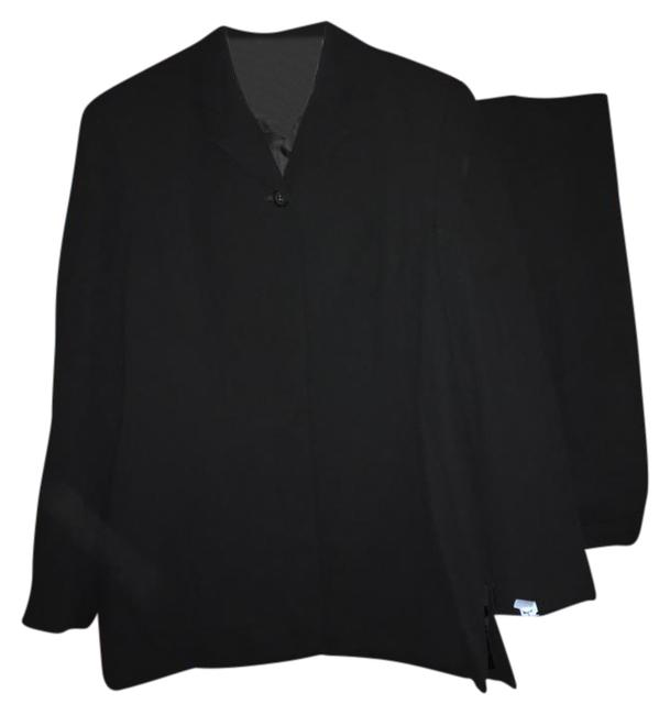 Amanda Smith Black Buttons Front Pant Suit Size 6 (S) Amanda Smith Black Buttons Front Pant Suit Size 6 (S) Image 1