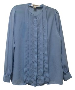 Diane von Furstenberg Vintage Button Down Shirt Blue