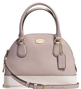 Coach Dome Satchel F34517 Leather Cross Body Bag