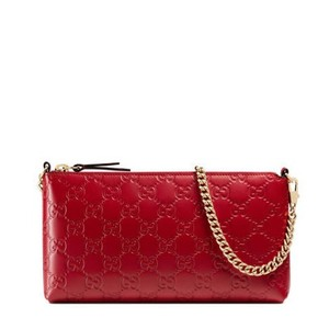 Gucci Wristlet in Hibiscus Red