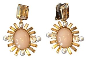 Oscar de la Renta OSCAR DE LA RENTA NWT BOLD MULTI CRYSTAL CLIP ON EARRINGS ($430)