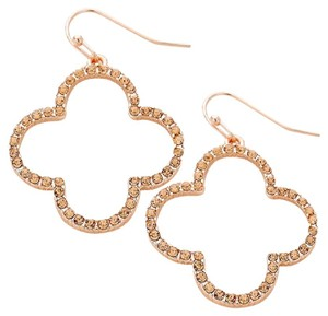 Wona Crystal quatrefoil clover earrings.